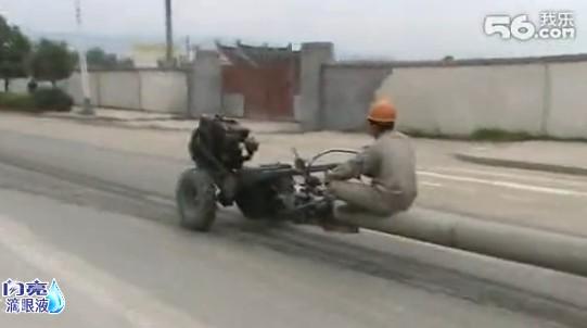 神马GTR都弱爆了!!风一样的男子和他那拉轰的神车~~