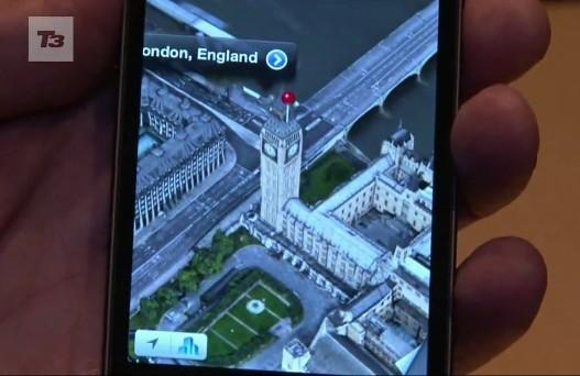 iPhone 5全新3D地图渲染效果