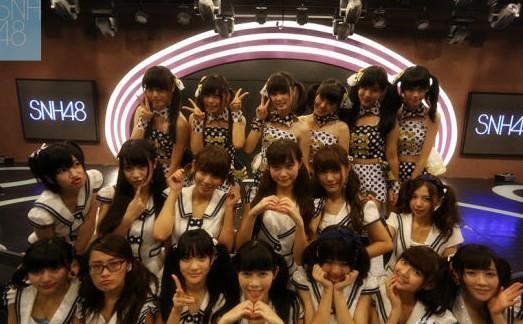 SNH48举行生日公演 姐妹情深成员哭倒舞台