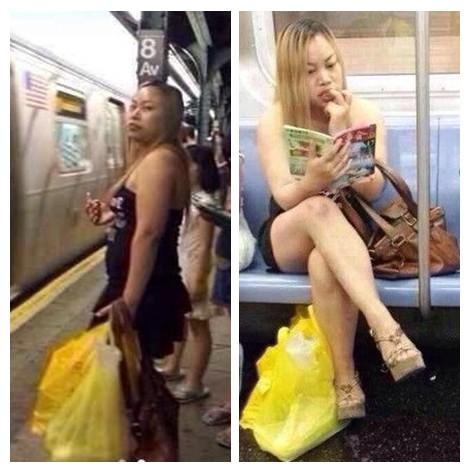曝凤姐在美国爆肥 坐地铁看最爱《故事会》