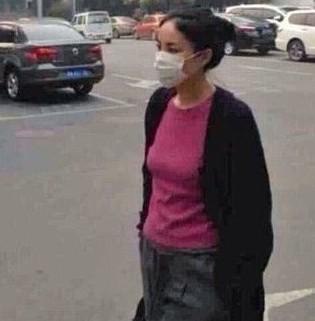 王菲休闲造型现身街头 口罩遮面神情严肃凝重