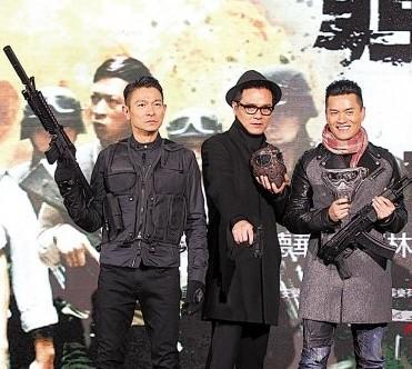 刘德华顶寒风宣传《风暴》 否认将生二胎的计划