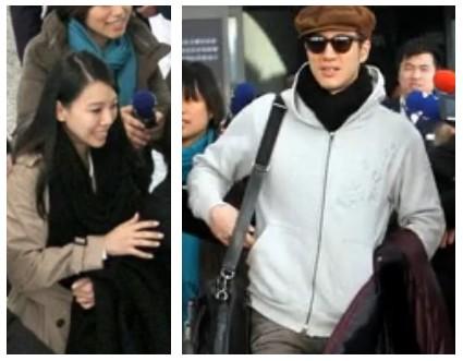 王力宏夫妻抵沪遭媒体围堵 李靓蕾险被挤丢