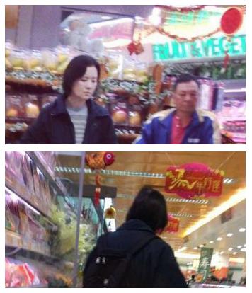 蓝洁瑛独自外出购物 怒向超市店员对收据