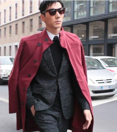 """张亮帅气席卷米兰时装周 获封""""最佳着装男士"""""""