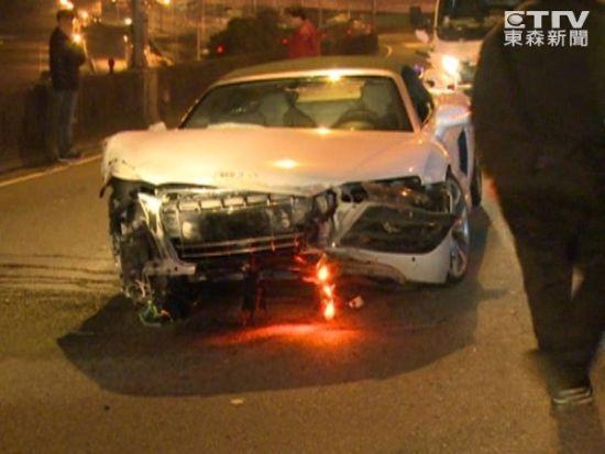 林志颖千万跑车被撞毁 友人驾车酿车祸