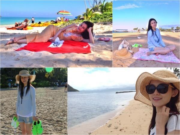 范玮琪夏威夷度假患感冒 造人失败:让大家失望