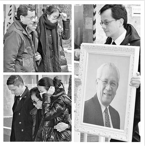 莫文蔚父亲出殡 全家哀伤送别不发一言