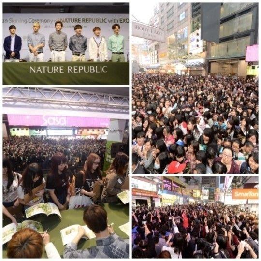 EXO-M香港签名会引骚动 巴士相撞粉丝现场晕倒