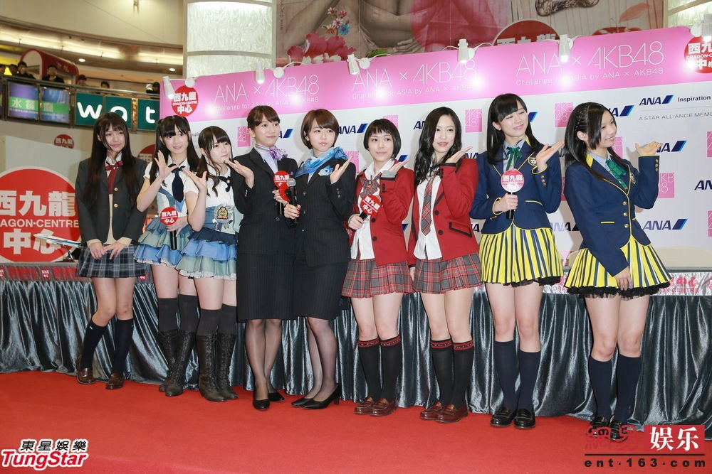 AKB48姐妹团旋风袭港 甜笑击掌粉丝乐翻天