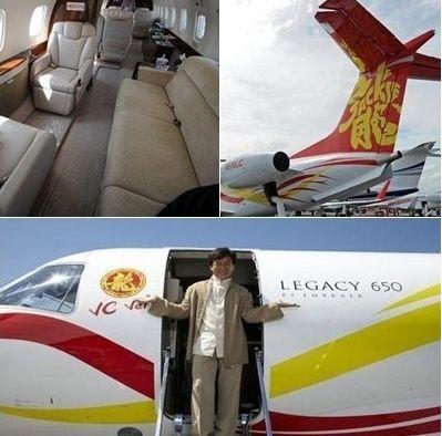 成龙2亿私人飞机曝光:内部奢华