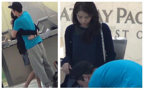 陈冠希携女友现身机场 弯腰为其系鞋带