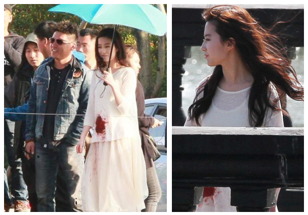 刘亦菲披头散发双手鲜血 拍摄新戏演技获赞