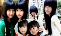 台湾超萌双胞胎近照曝光 小萝莉变潮范儿美少女